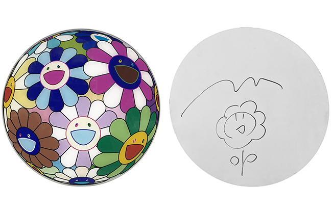 TAKASHI MURAKAMI - FLOWERBALL DISC ORIGINAL DRAWING