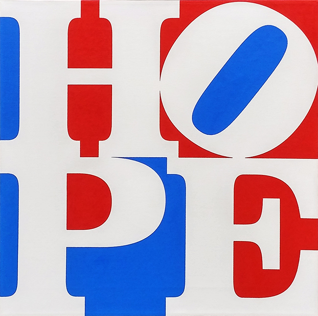 ROBERT INDIANA - HOPE (W/R/B)