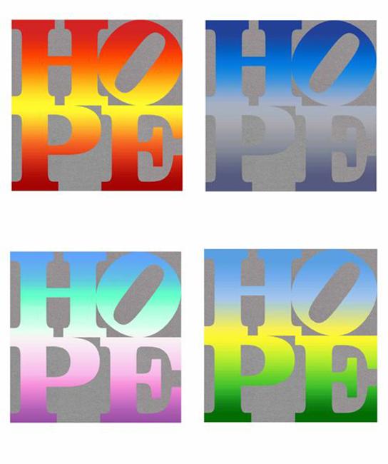 ROBERT INDIANA - FOUR SEASONS OF HOPE PORTFOLIO (SILVER)