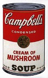 WARHOL, ANDY - CAMPBELL'S SOUP: CREAM OF MUSHROOM SUNDAY B. MORNING
