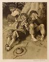 NORMAN ROCKWELL - TOM SAWYER, FIRST SMOKE