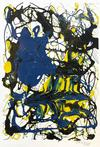MARIO CHUY - ABSTRACT (YELLOW, BLACK AND BLUE)