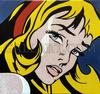 STEVE KAUFMAN - CRYING GIRL - HOMAGE TO LICHTENSTEIN