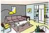 ROY  LICHTENSTEIN - MODERN ROOM