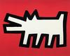 KEITH HARING - RED DOG