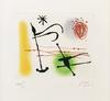 JOAN MIRO - ONE PLATE (FROM LA BAGUE D'AURORE SUITE)