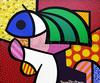 ROMERO BRITTO - THE GIRL WITH GREEN HAIR