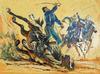 HARRY SCHAARE - Cavalry Charge
