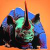 WARHOL, ANDY - ENDANGERED SPECIES: BLACK RHINOCEROS FS II.301