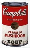 WARHOL, ANDY - CAMPBELL'S SOUP: CREAM OF MUSHROOM SUNDAY B. MORNING