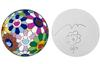TAKASHI MURAKAMI - FLOWERBALL DISC ORIGINAL DRAWING
